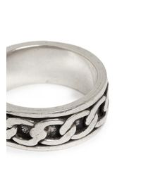 Philippe Audibert | Metallic Cable Chain Engraved Ring | Lyst