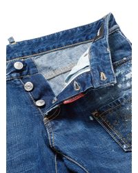 DSquared² - Blue Grommet Patch Pocket Distressed Jeans for Men - Lyst