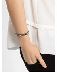 BaubleBar | Metallic Mini Ice Cone Stud Stretch Bracelet-Silver | Lyst