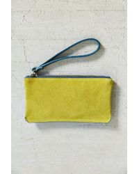 Urban Outfitters | Yellow Simple Suede Contrast Wristlet | Lyst