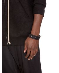 Rick Owens | Black Single Leather Cuff for Men | Lyst