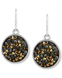 Kenneth Cole | Metallic Two-tone Faceted Bead Round Drop Earrings | Lyst