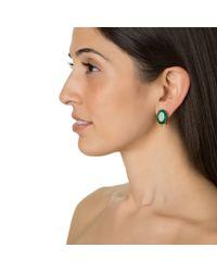 Bounkit | Green Onyx Oval Earrings | Lyst