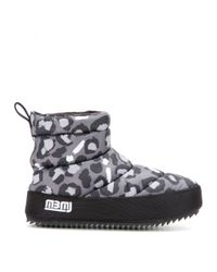 Marc By Marc Jacobs Black Macdougal Printed Ankle Boots