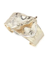 Alexis Bittar - Metallic Medium Clear Lucitecenter Cuff - Lyst