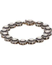 Munnu - Metallic Diamond, Gold & Silver Single Line Bracelet - Lyst