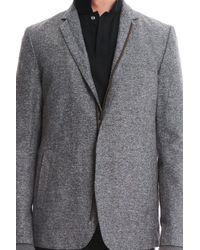 Robert Geller - Gray Zipper Blazer for Men - Lyst