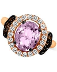 Le Vian | Purple Chocolate Quartz And White Topaz (2-9/10 Ct. T.w.) Ring In 14k Rose Gold | Lyst