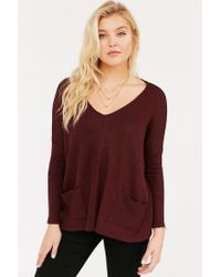 BDG | Purple Mia Pocket Pullover Sweater | Lyst
