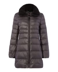 Andrew Marc - Gray Padded Style Coat With Hood - Lyst