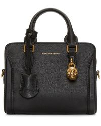 Alexander McQueen | Black Leather Mini Padlock Bag | Lyst