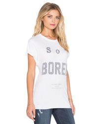The Laundry Room | White So Bored Rolling Tee | Lyst