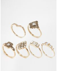 ALDO | Metallic Forestburg Multipack Rings | Lyst