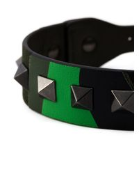 Valentino | Green 'Rockstud' Bracelet for Men | Lyst