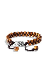 David Yurman | Brown Spiritual Beads Tworow Bracelet with Tigers Eye for Men | Lyst