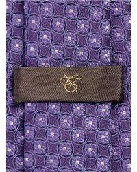 Canali - Purple Floral Wheel Jacquard Silk Tie for Men - Lyst