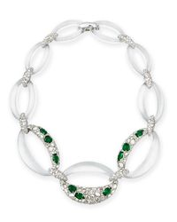 Alexis Bittar | Multicolor Half-encrusted Lucite Link Necklace | Lyst
