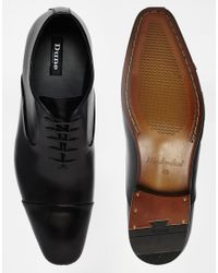 Dune - Black Alex Toe-cap Shoes for Men - Lyst