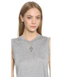 Pamela Love - Metallic Mini Sueno Pendant Necklace - Brass - Lyst