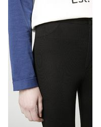 TOPSHOP | Black Petite Ponte High-waisted Treggings | Lyst