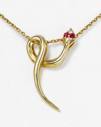 Elizabeth and James | Metallic Snake Pendant Necklace 15 | Lyst