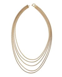 Roberto Coin | Metallic 18k Gold Multi-strand Necklace | Lyst