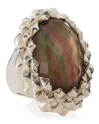 Stephen Webster - Brown Studded Oval Motherofpearl Ring Size 7 - Lyst