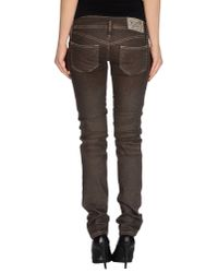 DIESEL - Brown Denim Trousers - Lyst