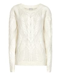 Reiss | White Maia Cable-knit Jumper | Lyst
