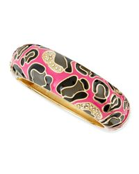 Sequin | Pink Thick Camo Enamel Bangle | Lyst