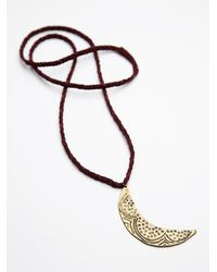 Free People | Purple Womens Oasis Pendant | Lyst