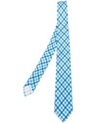 Kiton - Green Checked Tie for Men - Lyst