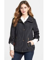 MICHAEL Michael Kors | Black Hooded Drawstring Jacket | Lyst