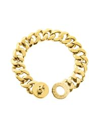 Marc By Marc Jacobs - Metallic Turnlock Golden Brass Katie Bracelet - Lyst