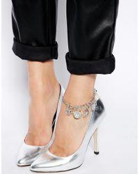 ASOS | Metallic Talisman Charm Anklet | Lyst