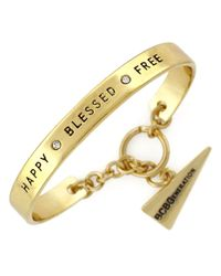 BCBGeneration | Metallic Goldtone Happy Blessed Free Bracelet | Lyst