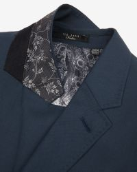 Ted Baker - Green Wool And Silk-blend Jacket for Men - Lyst