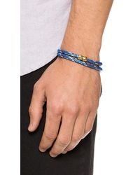 Miansai | Blue Casings Rope Bracelet for Men | Lyst