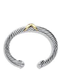 David Yurman   Metallic X Bracelet With Gold   Lyst