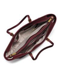 MICHAEL Michael Kors - Purple Jet Set Travel Medium Saffiano Multifunction Tote Bag - Lyst