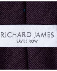 Richard James | Purple Plum Tribal Lama Tie for Men | Lyst