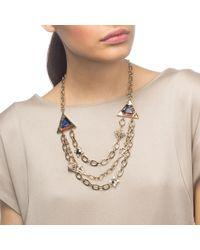 Lulu Frost | Metallic Petra Triple Layer Necklace | Lyst