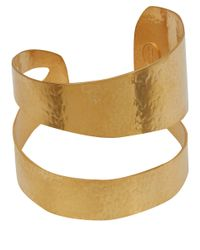 Herve Van Der Straeten | Metallic Goldplated Wrap Cuff Bracelet | Lyst