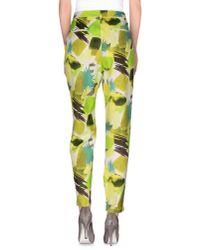 Karl Lagerfeld - Green Casual Pants - Lyst