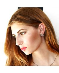 Adornia - Black Diamond And Sterling Silver Barra Bar Stud Earrings - Lyst