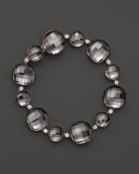 Roberto Coin | Metallic 18k Rose Gold Cocktail Double Quartz And Diamond Bracelet | Lyst