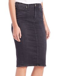 Mcguire - Blue Confessional Denim Pencil Skirt - Lyst