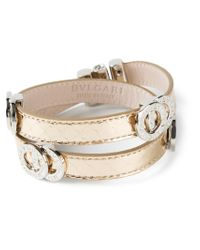 BVLGARI - Metallic Double Coiled Bracelet - Lyst