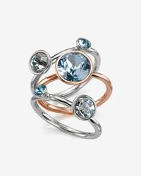 Ted Baker | Blue Jewel Cluster Ring | Lyst