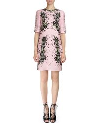 Erdem - Pink Emmalina Half-sleeve Silk Crepe Dress - Lyst